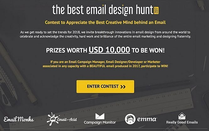 The Best Email Design Hunt 2017- header banner