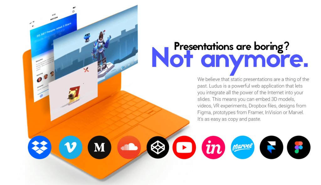 Presentation Design: Ludus Makes You Forget About Powerpoint | NOUPE