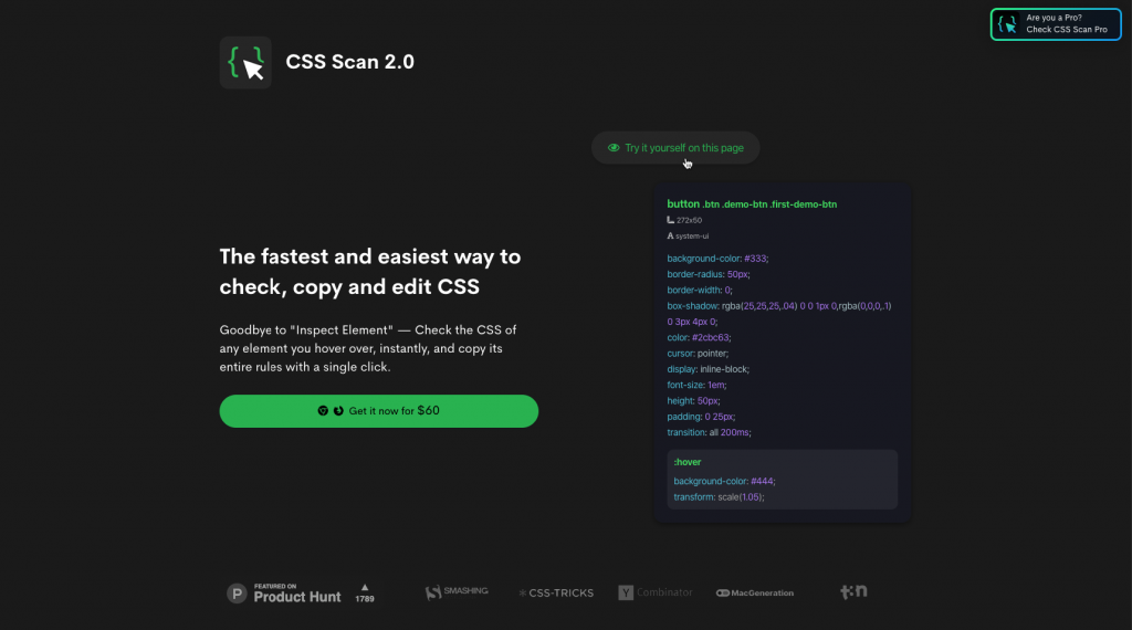 Get css scan