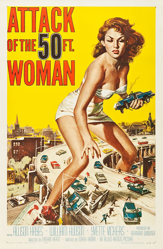 Attack of the 50 Foot Woman Retro Horror Movie Poster