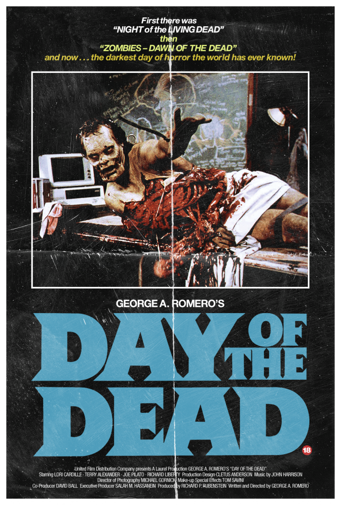 Day of the Dead Retro Horror Movie Poster