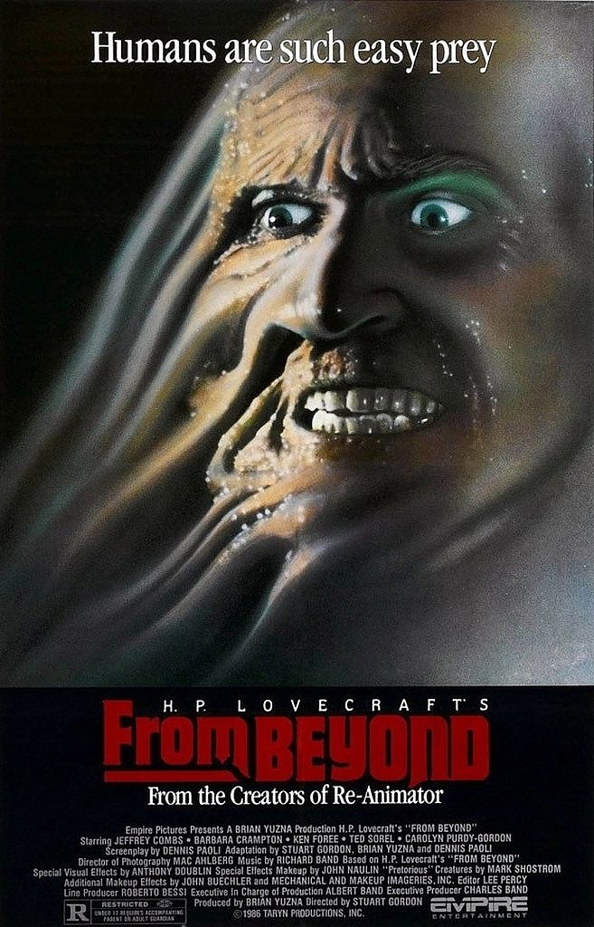From Beyond Retro Horror Movie Poster