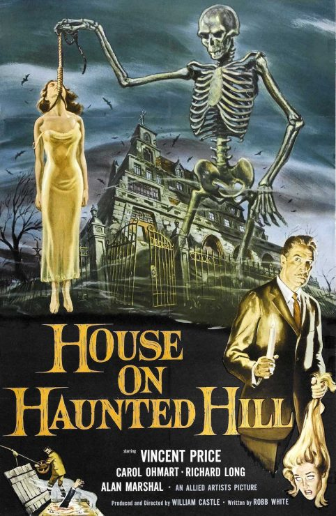 House on Haunted Hill Retro Horror Movie Poster