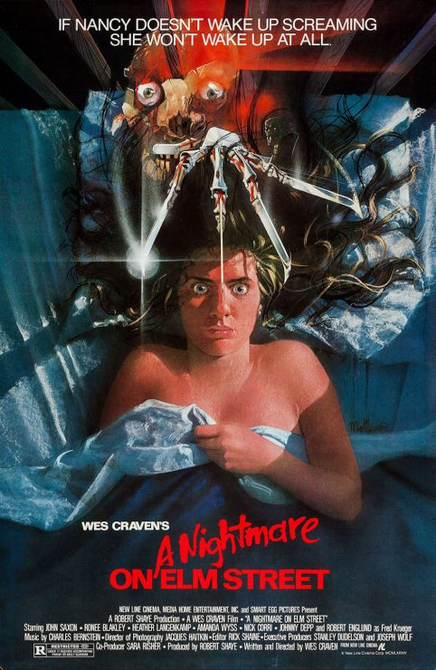 A Nightmare On Elm Street Retro Horror Movie Poster