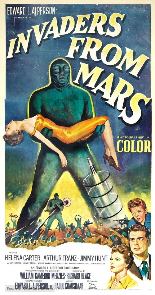 Invaders from Mars Retro Horror Movie Poster