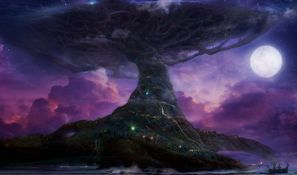 World of Warcraft Art Teldrassil from afar