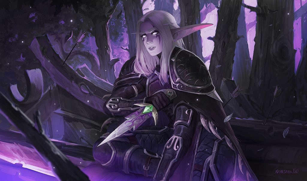 World of Warcraft Art Night Elf Rogue