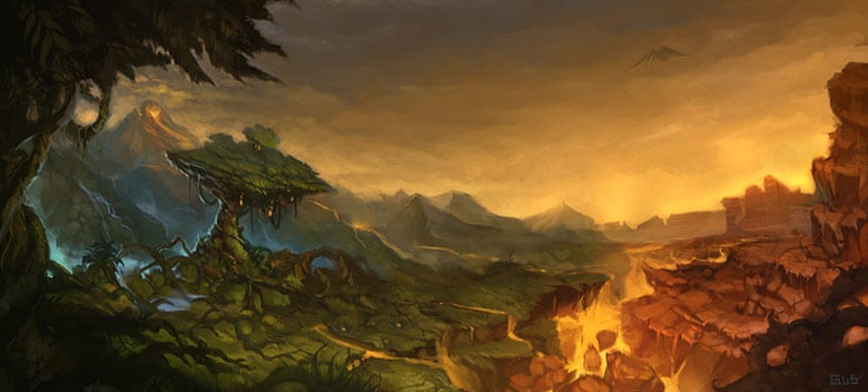 World of Warcraft Art The Barrens Great Divide