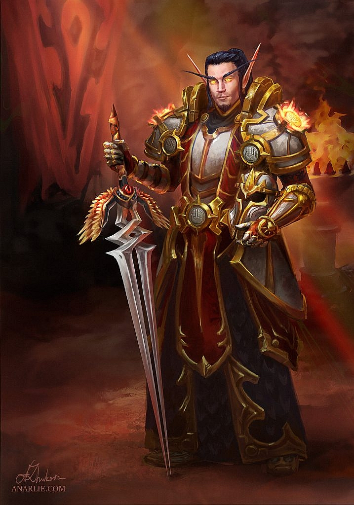 World of Warcraft Art Blood Elf Paladin