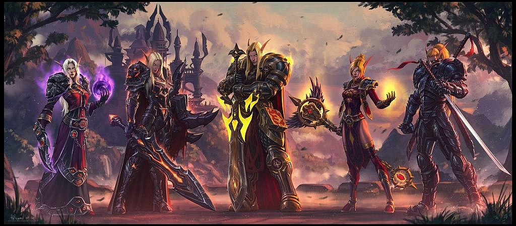 World of Warcraft Art Blood Elf Party