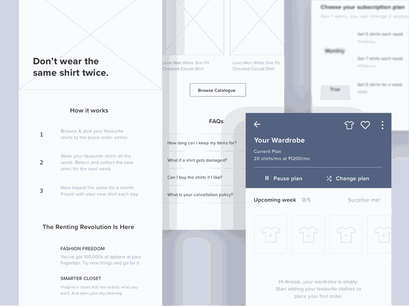 wireframe examples by Anoop Kumar