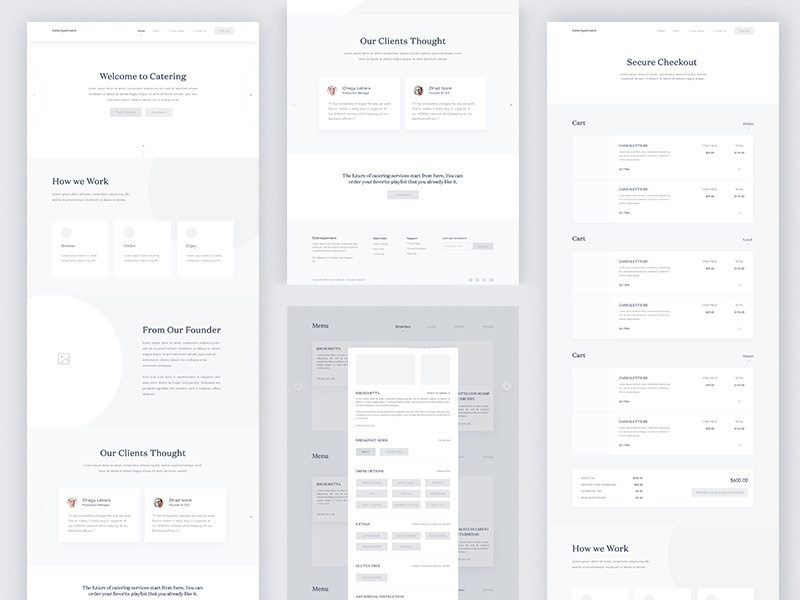 wireframe examples of a website