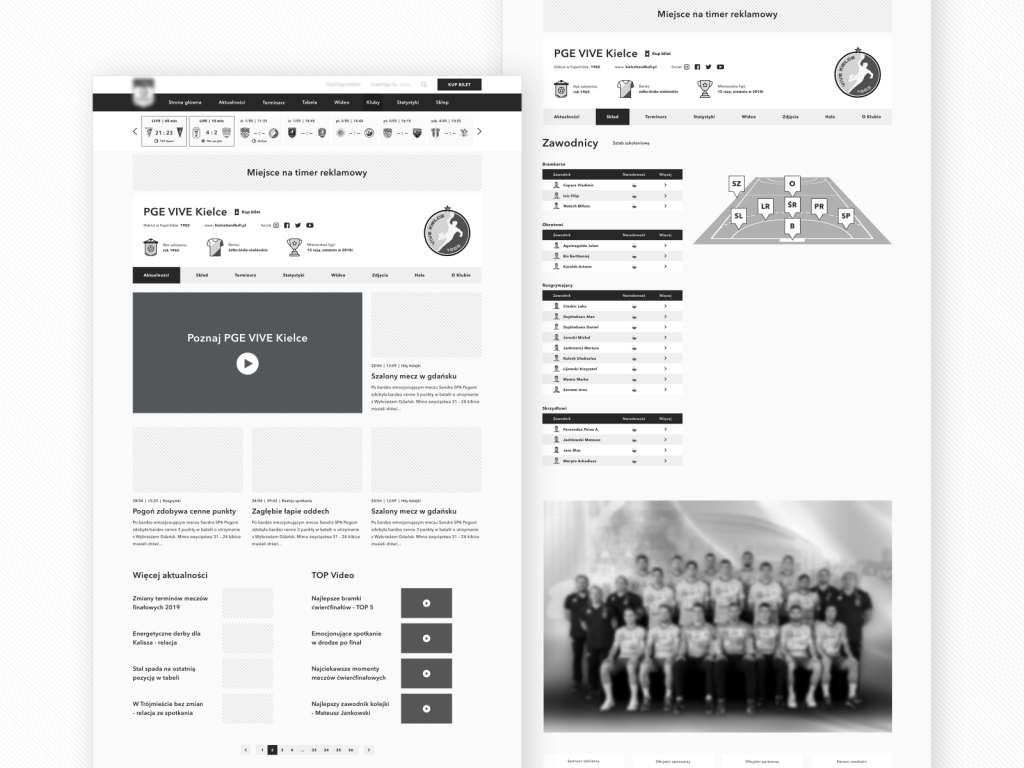 wireframe examples of a website by Ryszard Cz