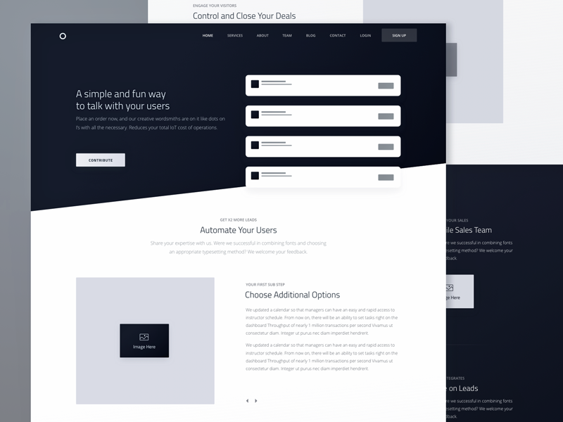 wireframe examples of a website by Sergey Pikin