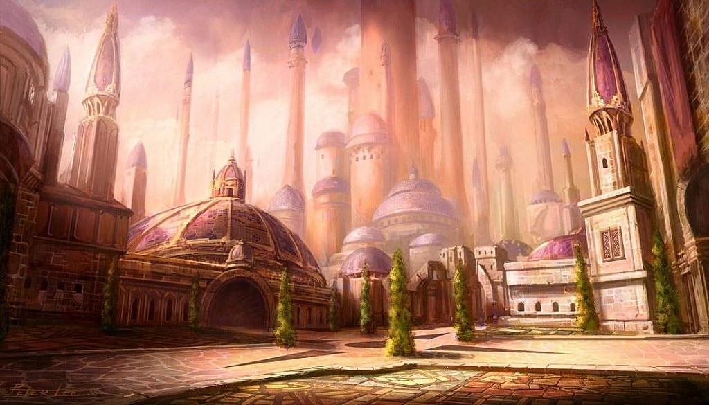 World of Warcraft Art Dalaran City