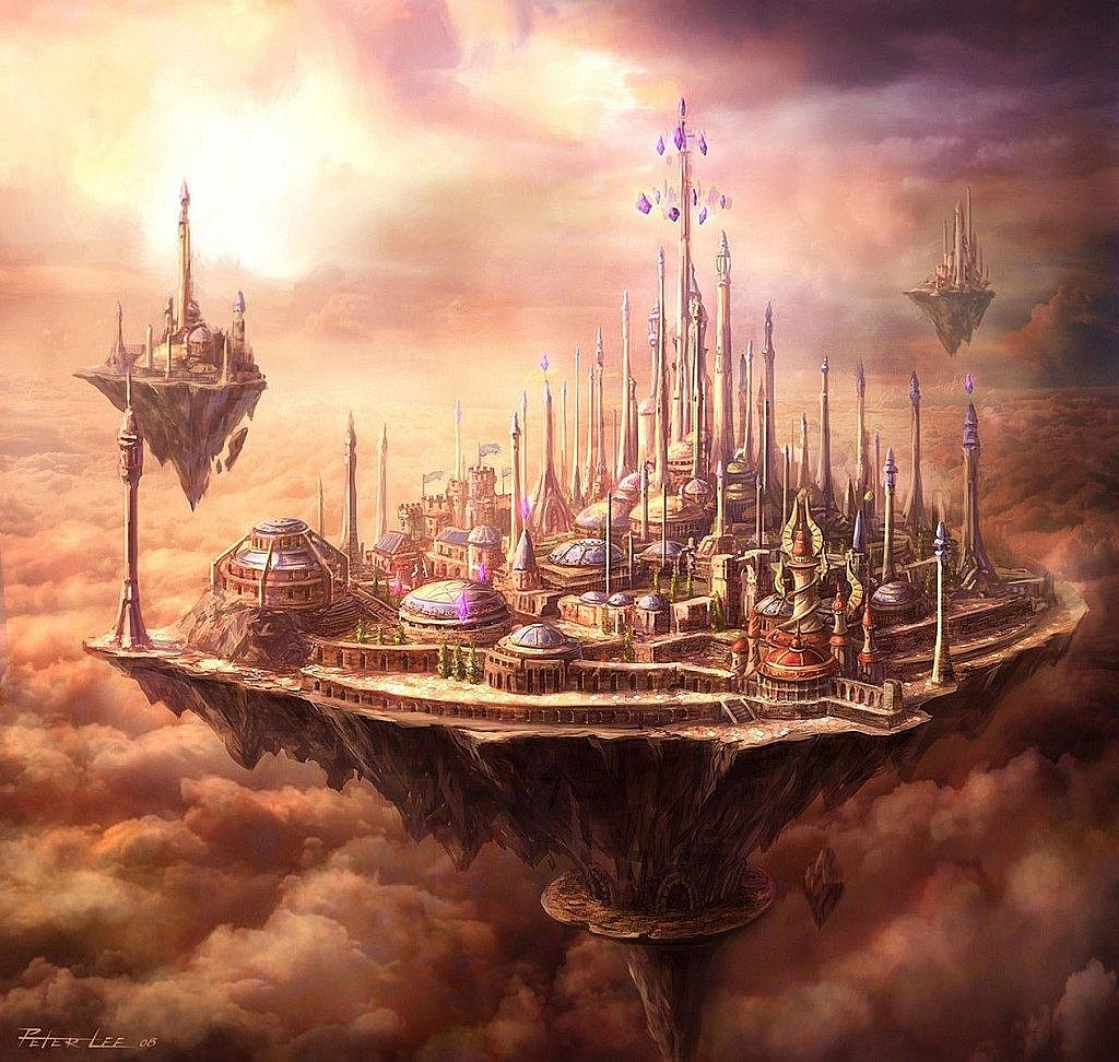 World of Warcraft Art Dalaran in the sky