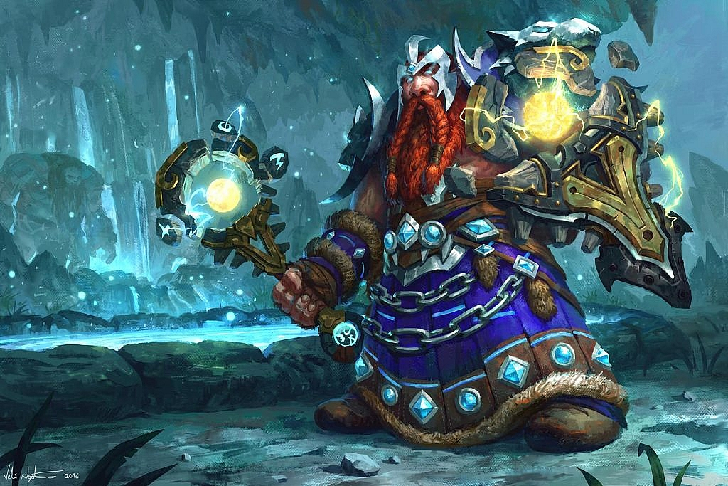 World of Warcraft Art dwarf shaman