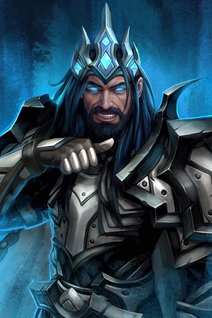 World of Warcraft Art Human Frost Death Knight