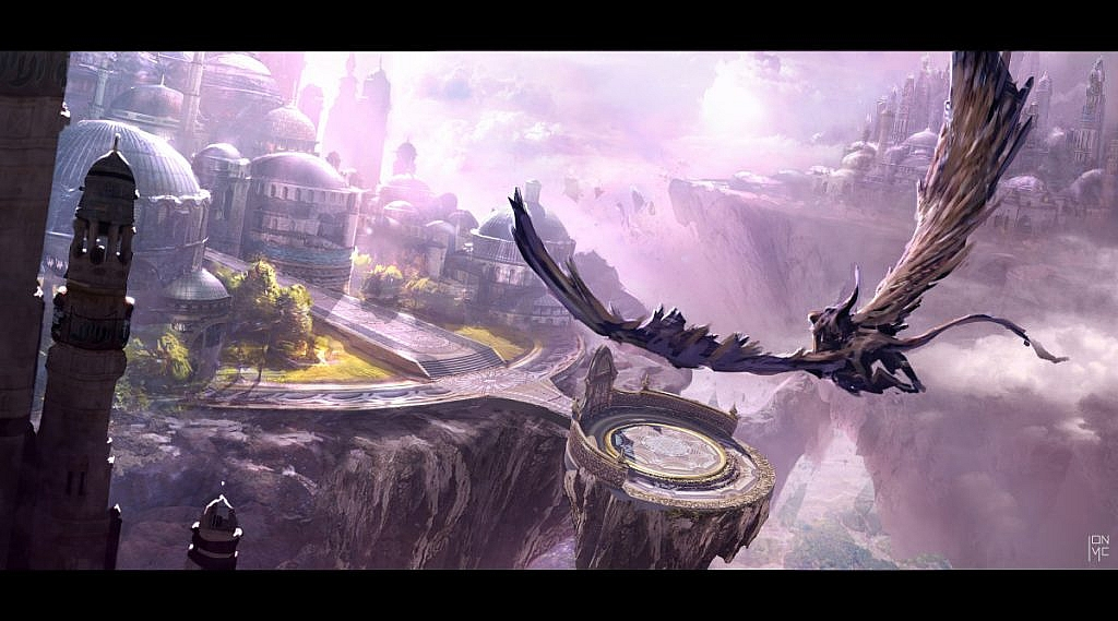 World of Warcraft Art dalaran from the sky