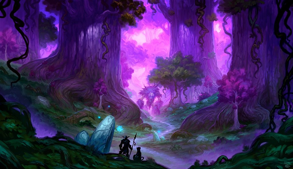 World of Warcraft Art Moonglade