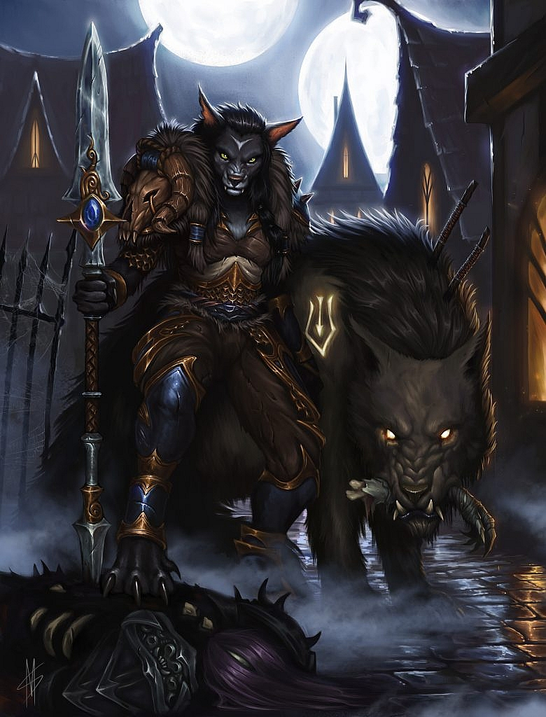 World of Warcraft Art Worgen Huntress