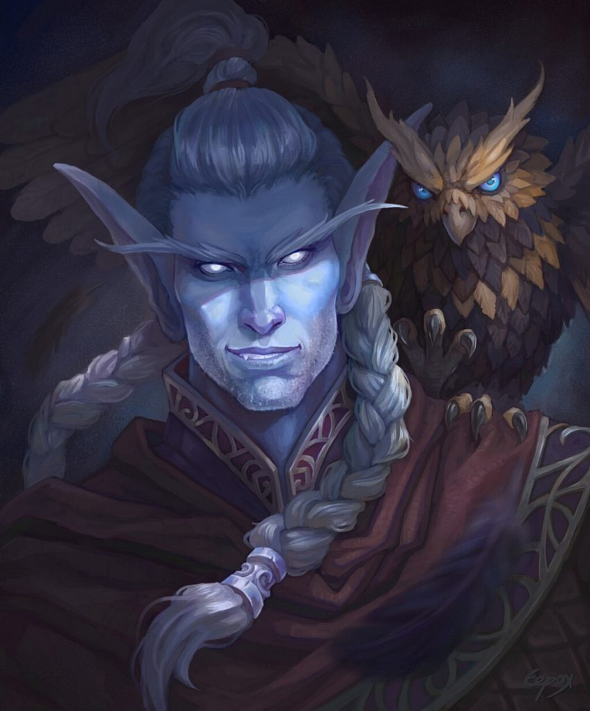 World of Warcraft Art  Nightelf Male Hunter