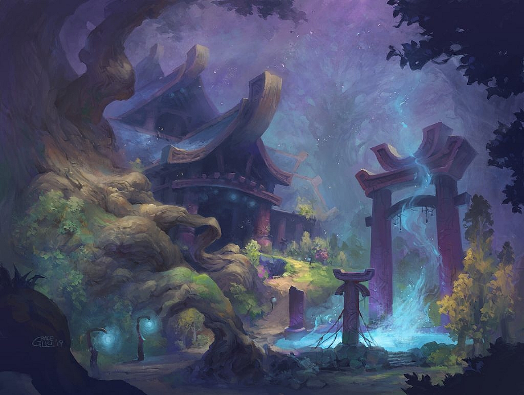 World of Warcraft Art Teldrassil