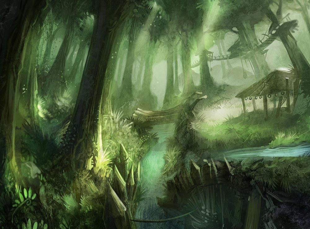 World of Warcraft Art Terrokkar Forrest