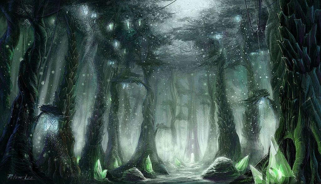 World of Warcraft Art Terrokar Forest