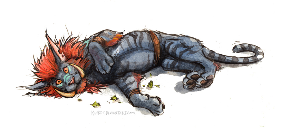 World of Warcraft Art Troll Druid Cat Form