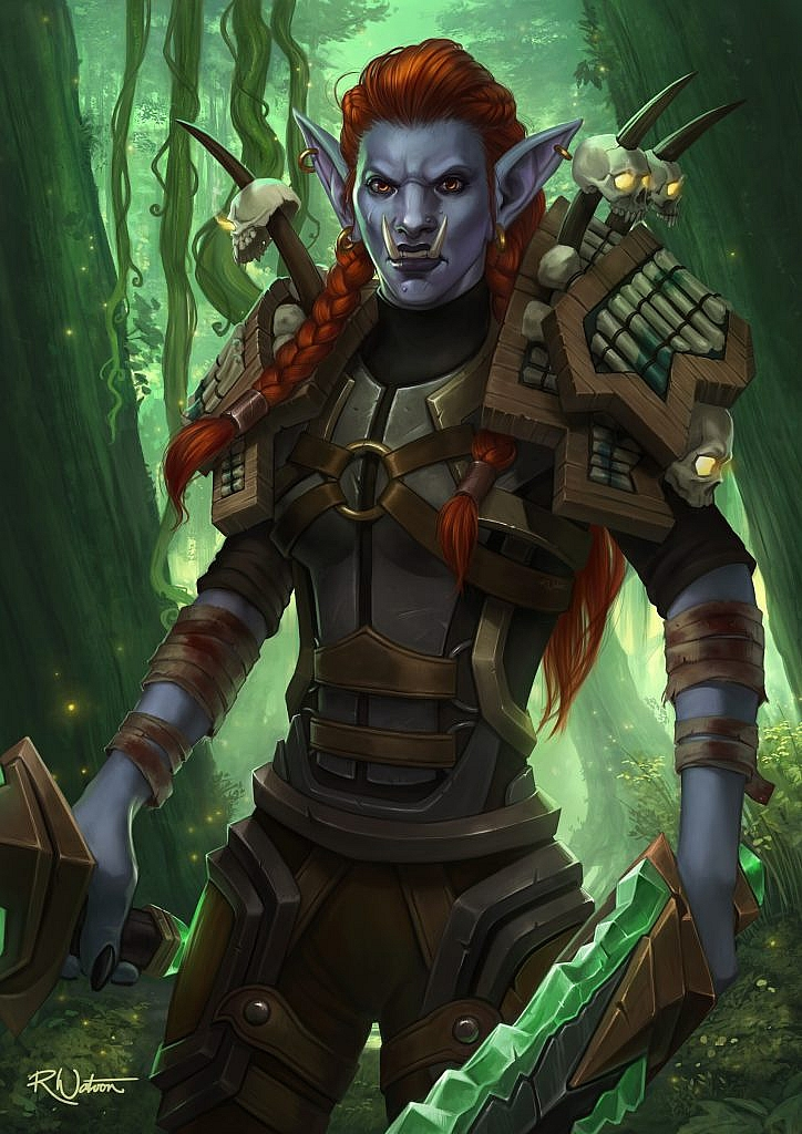 World of Warcraft Art Troll Warrior