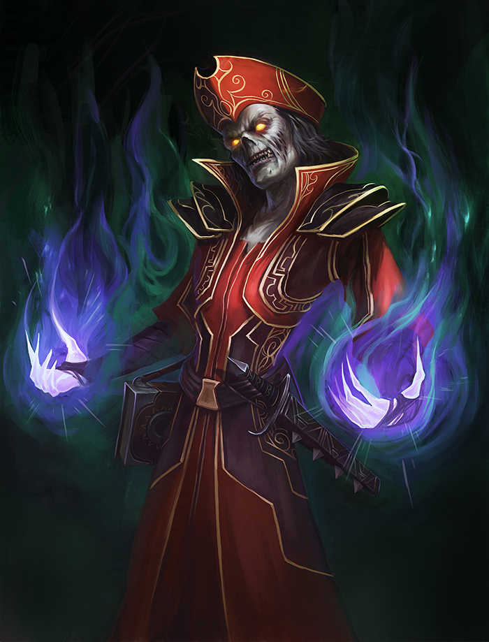 World of Warcraft Art Undead Shadow Priest