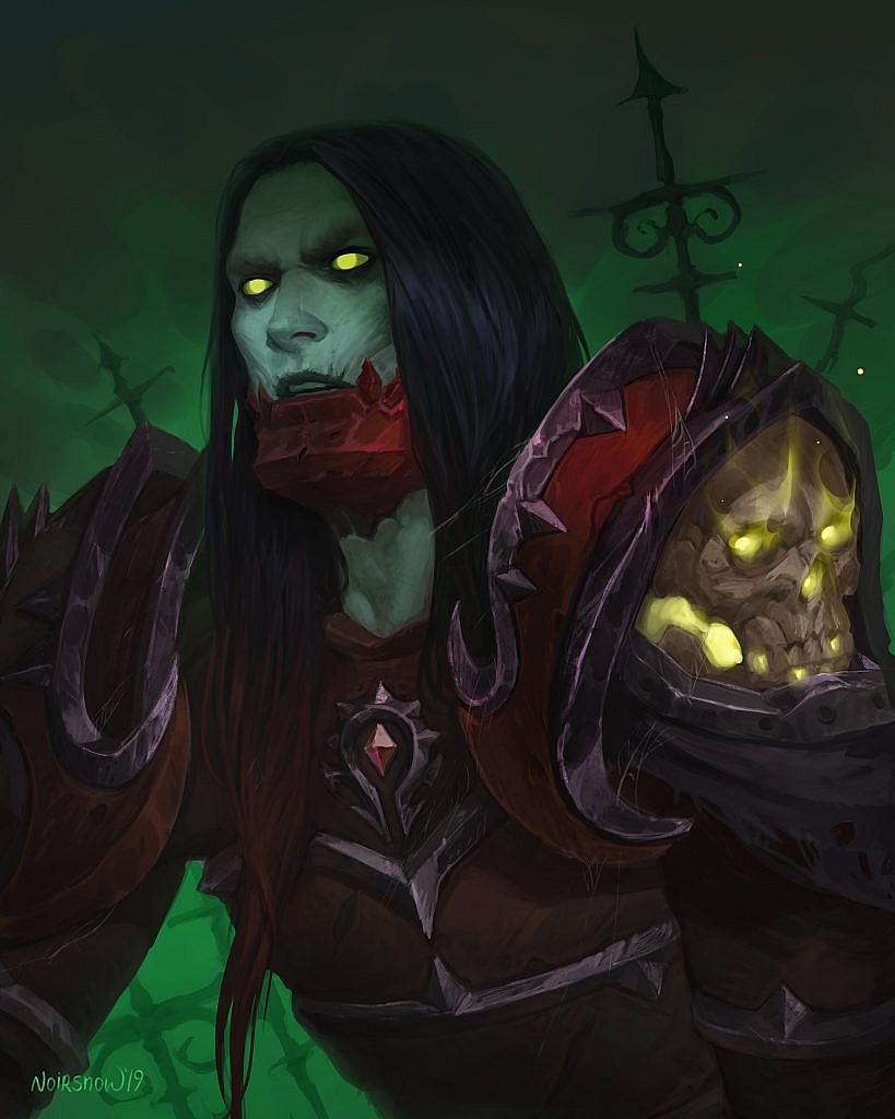 World of Warcraft Art Undead Deathknight