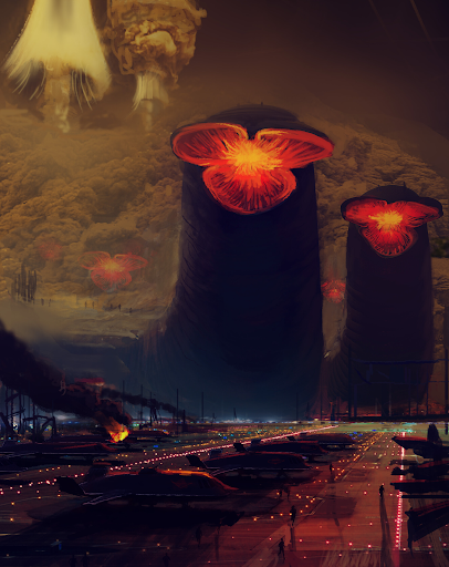Fremen Attack on the Spaceport by Arrakeen