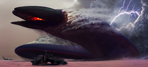 Shai-Hulud Chasing Damaged Thopter