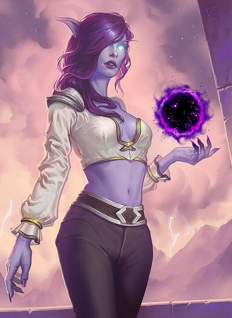World of Warcraft Art Void Elf Priest
