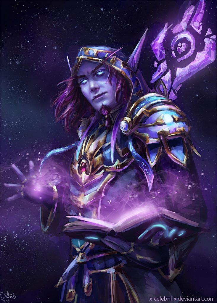World of Warcraft Art Void Elf Mage
