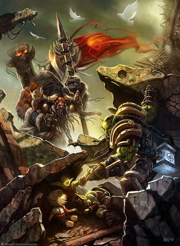 World of Warcraft Art Cairne and Thrall