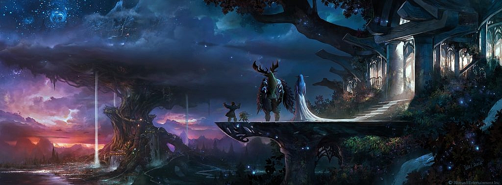 World of Warcraft Art Aramar Thorne, Malfurion Stormrage and Tyrande Whisperwind