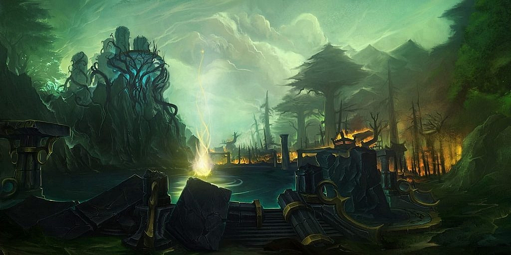 World of Warcraft Art The Well of Eternity