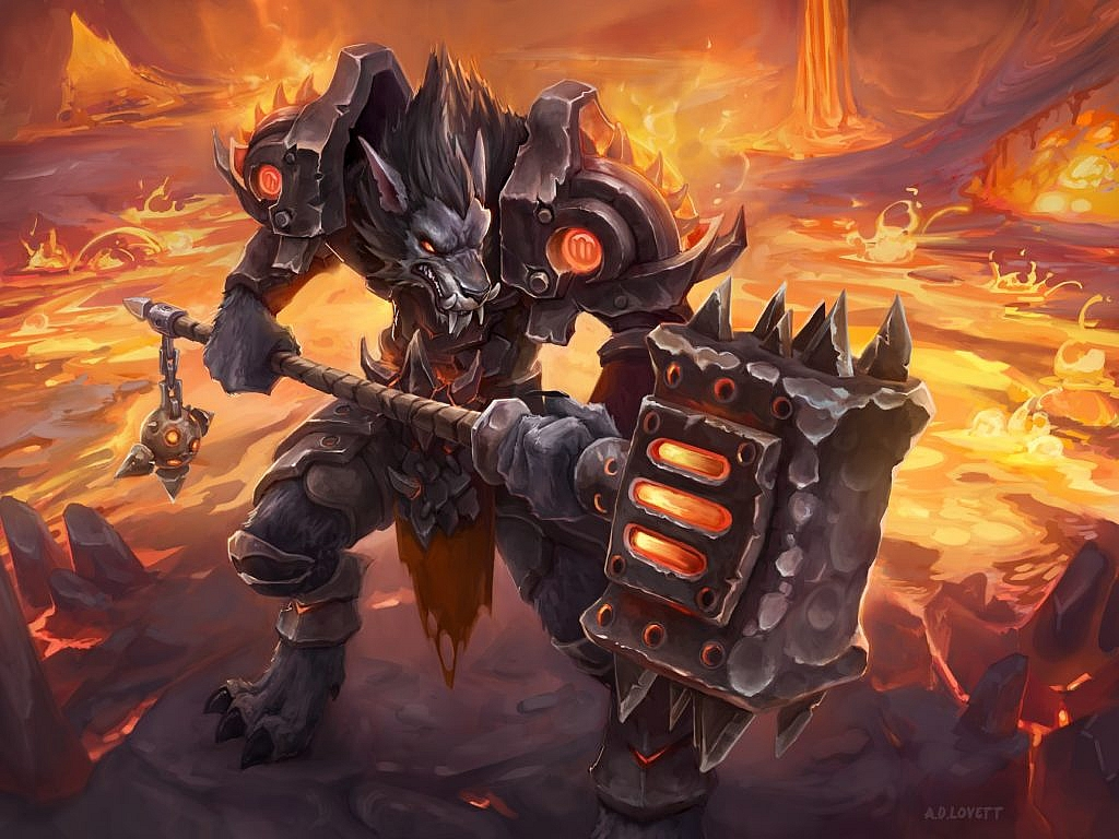World of Warcraft Art Worgen Warrior