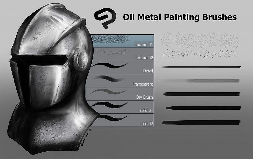 CSP Oil Metal Painting Brush Set