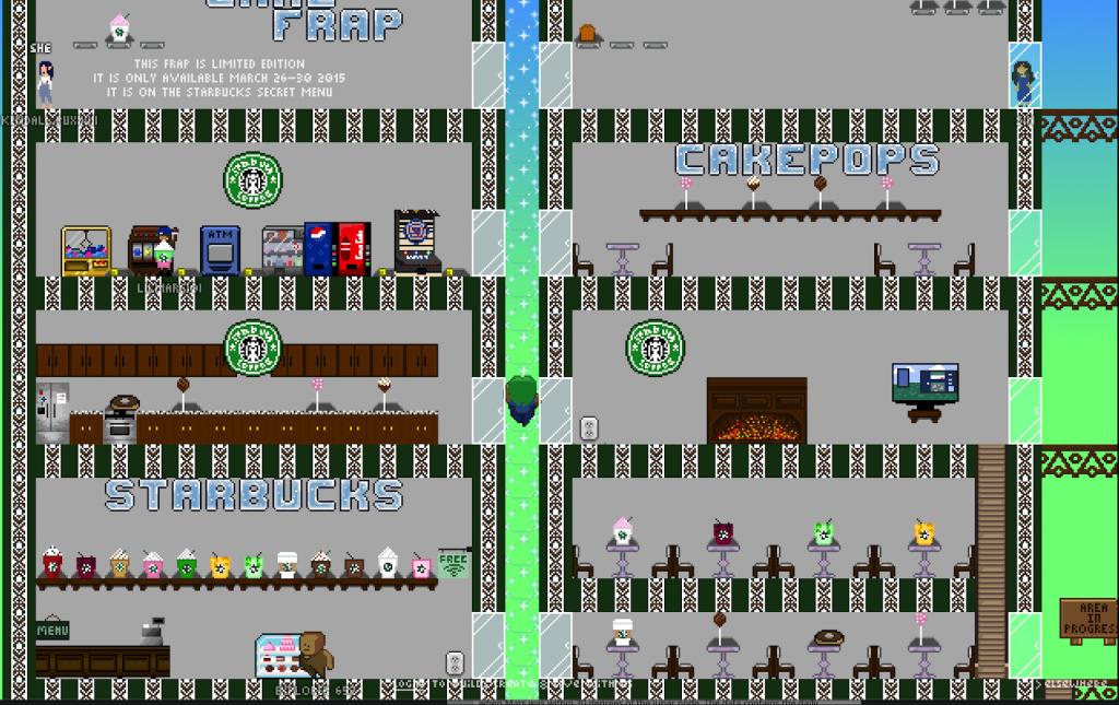 Starbucks world in Manyland