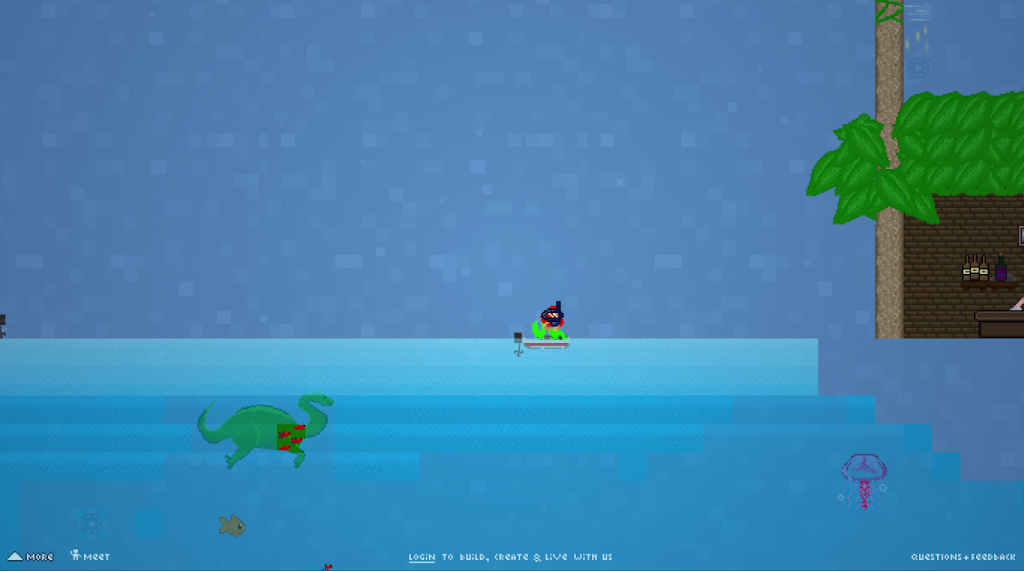 mermaid riding a boat in Manyland