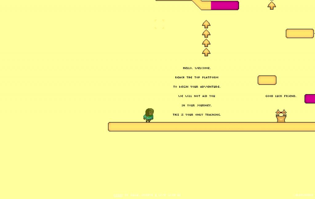 A game world in Manyland