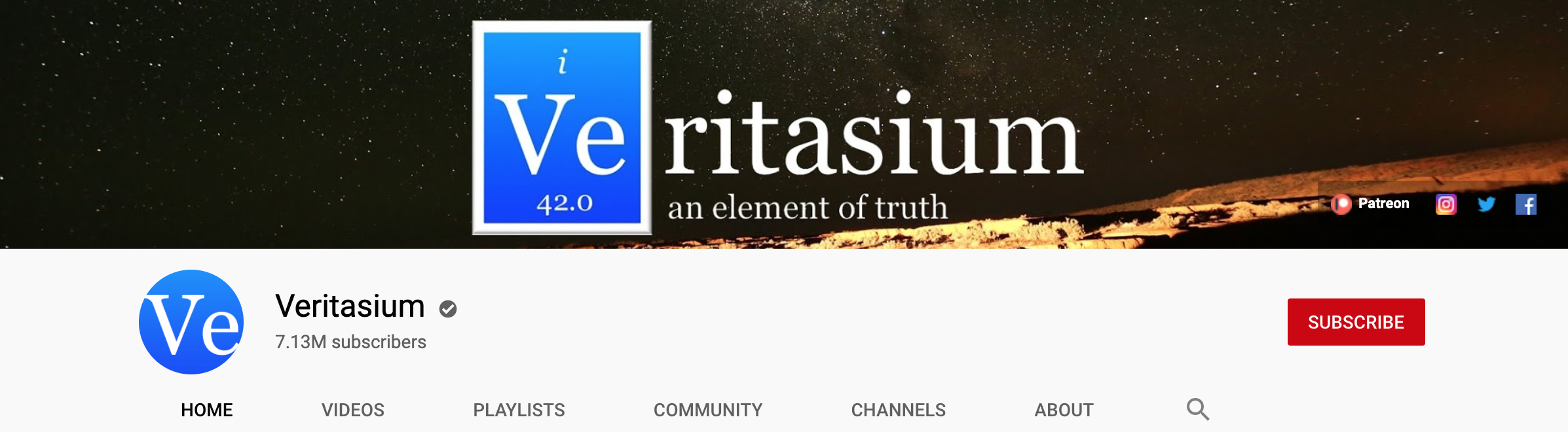 veritasium youtube banner