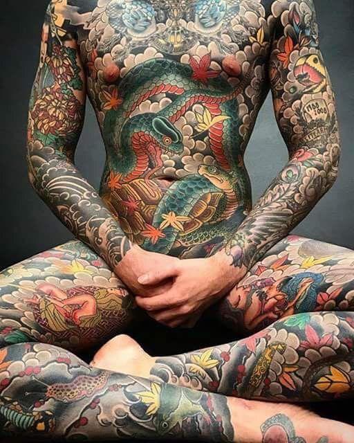 traditional japanese tattoo full body man tattoo