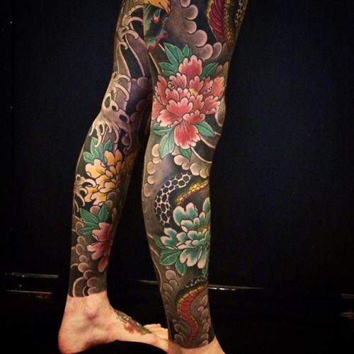 traditional japanese tattoo snake tattoo