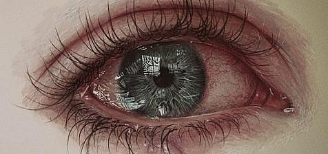 eye drawing with tears