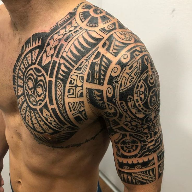traditional polynesian tattoo hawaiian tiki totem tattoo